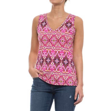 Caribbean Joe Sun Tribe Ikat Tank Top (For Women)