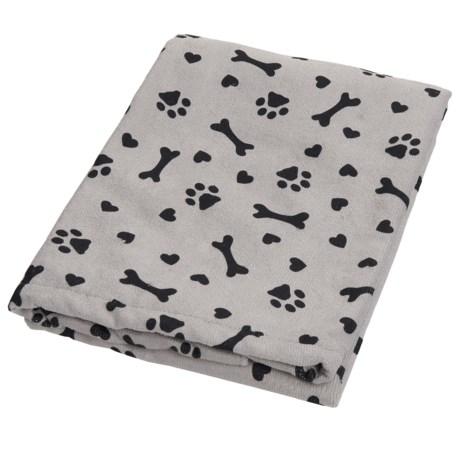 "Bone Dry Heart Print Microfiber Drying Towel - 44x28"""