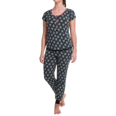 Kensie Scoop Neck Pajamas - Short Sleeve (For Women)