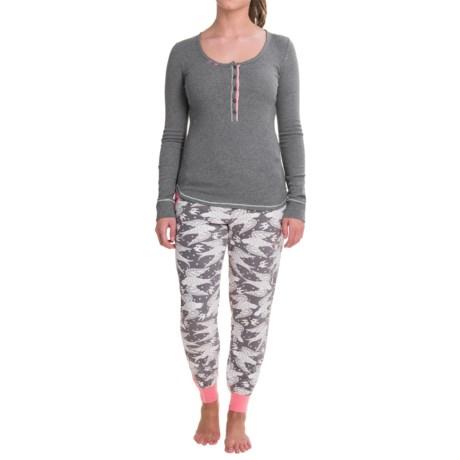Kensie Henley Pajamas - Long Sleeve (For Women)