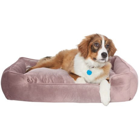 Jax & Bones Plush Velour Lounge Dog Bed - 34x27""