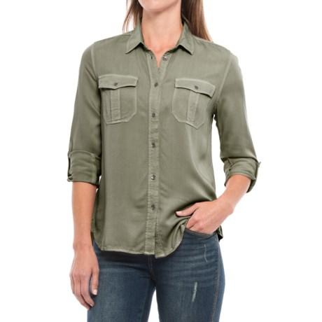 Workshop Republic Clothing Roll-Tab Twill Shirt - Long Sleeve (For Women)