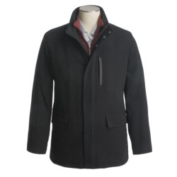 Cole Haan Wool Twill Top Coat - Stand-Up Collar (For Men)