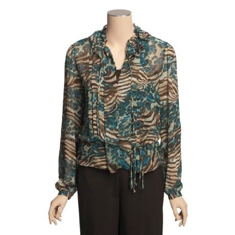 Katherine New York Tunic Shirt - Pleated Bodice, Long Sleeve (For Women)