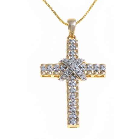 Prime Art Cross Necklace - 18K Gold-Plated, Chain