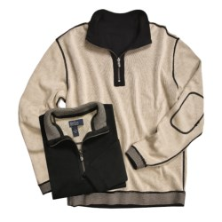 Nat Nast Weekend Pullover Sweater - Cotton, Reversible, Zip Neck (For Men)