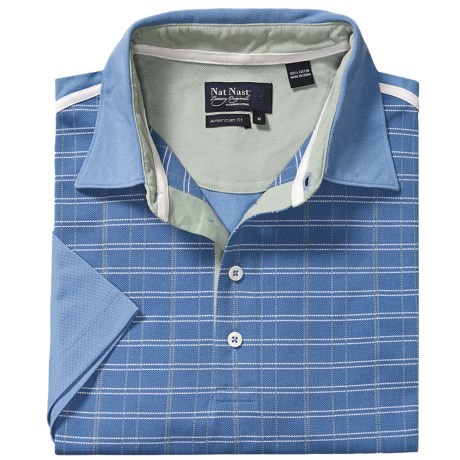 Nat Nast One Putt Polo Shirt - UV Sun Protection, Short Sleeve (For Men)