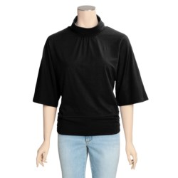 Avalin Cowl Neck Shirt - Stretch Cotton, 3/4 Sleeve (For Women)