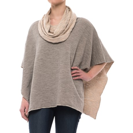 dylan Luxe Slub Free Spirit Reversible Poncho - Short Sleeve (For Women)