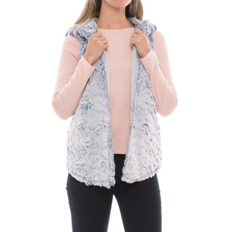 dylan Chambray Faux-Fur Vest (For Women)