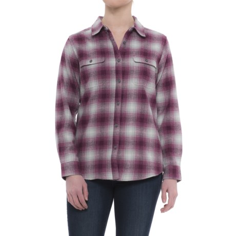 Wolverine Aurora Plaid Flannel Shirt - Long Sleeve (For Women)