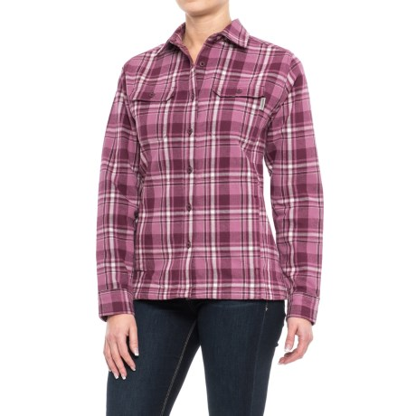 Wolverine Redwood Plaid Flannel Shirt - Long Sleeve (For Women)