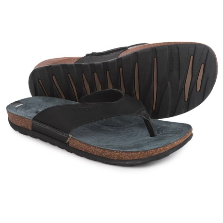 Merrell Downtown Flip-Flops - Leather (For Men)