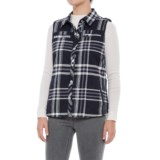 dylan Plaid High-Low Shirt Vest (For Women)