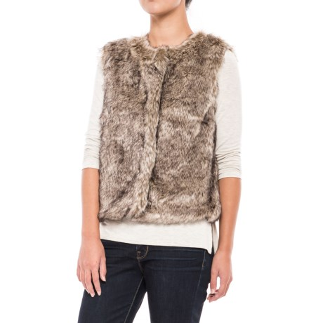 dylan Rock It Faux-Fur Vest - Plaid Lined (For Women)