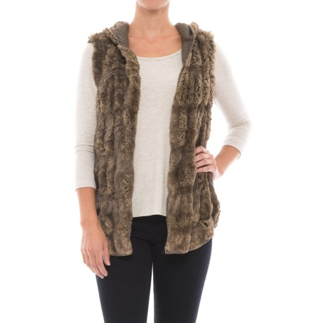 dylan Reversible Hooded Faux-Fur Vest (For Women)