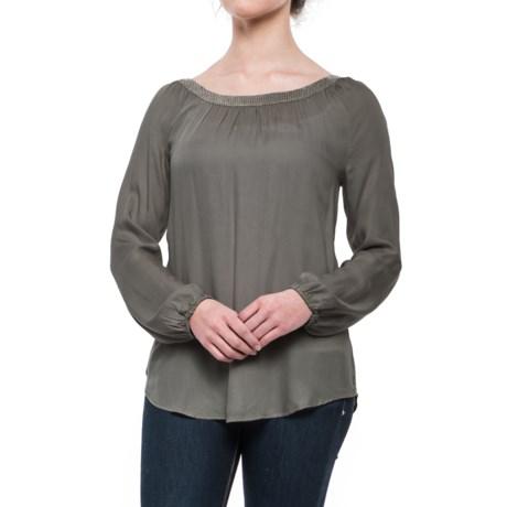 dylan Sequin-Neckline Blouse - Long Sleeve (For Women)