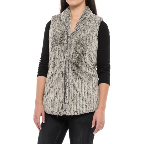 dylan Faded Fleece Snap-Front Vest (For Women)