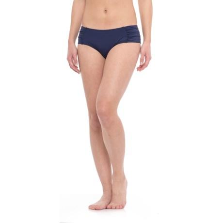 Moontide Ruched Boy-Cut Bikini Bottoms (For Women)