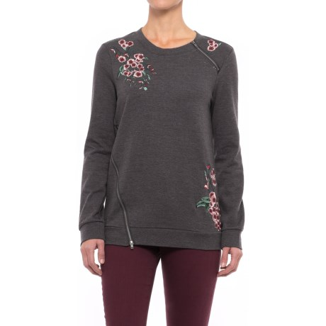 NANETTE Nanette Lepore Rose Embroidered Sweatshirt (For Women)