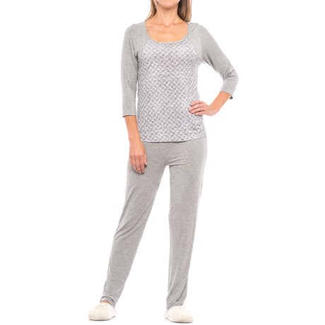 Daisy Fuentes Intimates Knit Pajamas - 3/4 Sleeve (For Women)