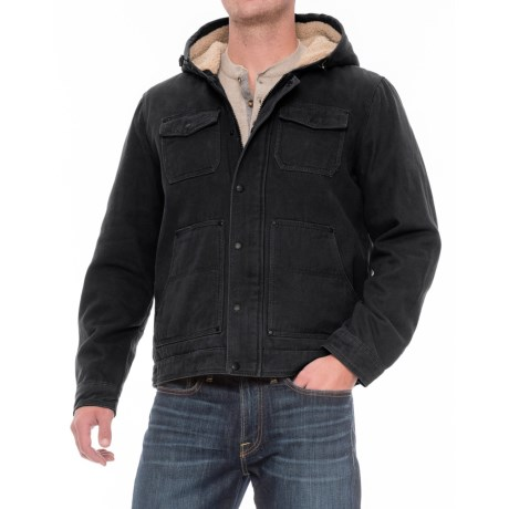 G.H. Bass & Co. Cotton Canvas Hooded Trucker Jacket - Insulated (For Men)