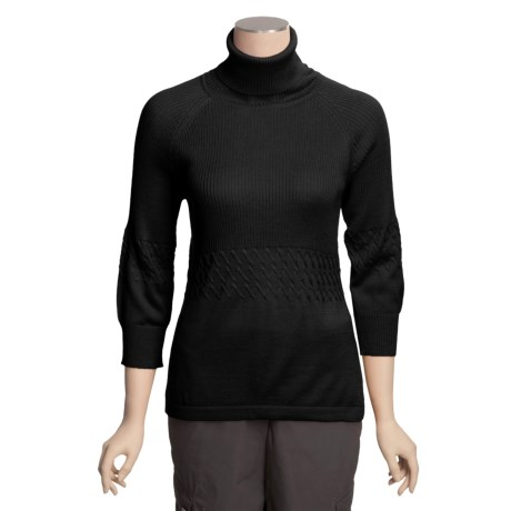 Avalin Turtleneck Sweater - Rib-Tuck Stitch, 3/4 Sleeve (For Women)