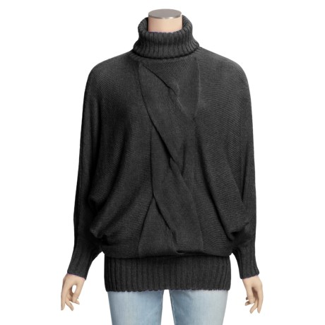 Avalin Touch of Alpaca Tunic Turtleneck Sweater - 3/4 Sleeve (For Women)