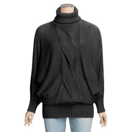 Avalin Touch of Alpaca Tunic Turtleneck Sweater - 3/4 Sleeve (For Women)