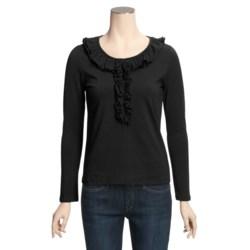Avalin Ruffle Shirt - Stretch Cotton, Long Sleeve (For Women)