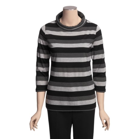 Avalin Striped Knit Turtleneck - 3/4 Sleeve (For Women)