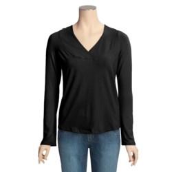 Blue Canoe Raglan Hoodie Shirt - Organic Cotton (For Women)