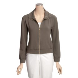 Blue Canoe Terry Jacket - Stretch Organic Cotton (For Women)