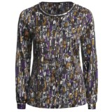 Think Tank Jewel Neck Blouse - Long Sleeve (For Women)