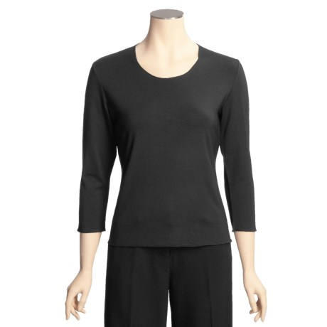 Think Tank Scoop Modal Shirt - 3/4 Sleeve (For Women)