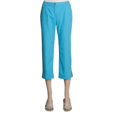 Madison Hill Cotton-TENCEL® Crop Pants - 5 Pocket (For Women)