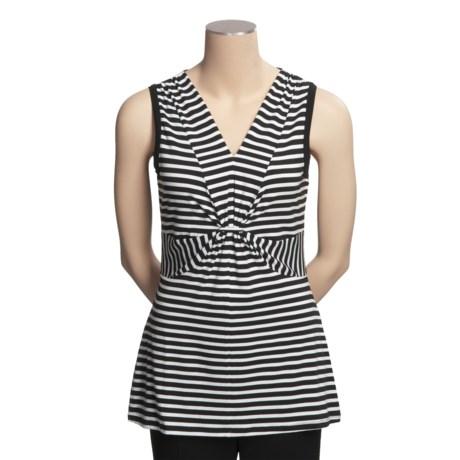 Madison Hill Striped Shirt - V-Neck, Sleeveless (For Women)