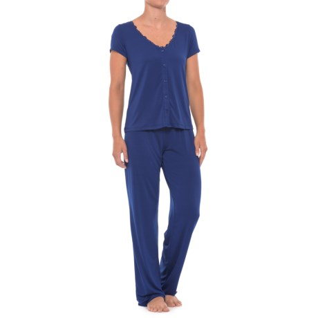 Maidenform Lace-Trim Pajamas - Short Sleeve (For Women)