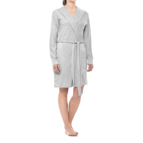 Marilyn Monroe Brushed Hacci Hooded Robe - Long Sleeve (For Women)