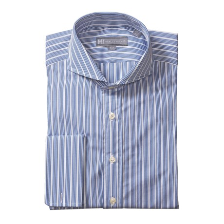 Hickey Freeman Corded Stripe Dress Shirt - Cotton, Long Sleeve (For Men)