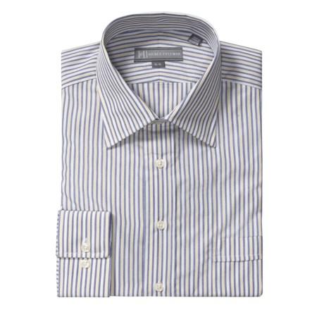 Hickey Freeman Border Stripe Dress Shirt - Cotton, Long Sleeve (For Men)