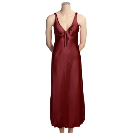 Diamond Tea Satin Charmeuse Nightgown - Sleeveless (For Women)