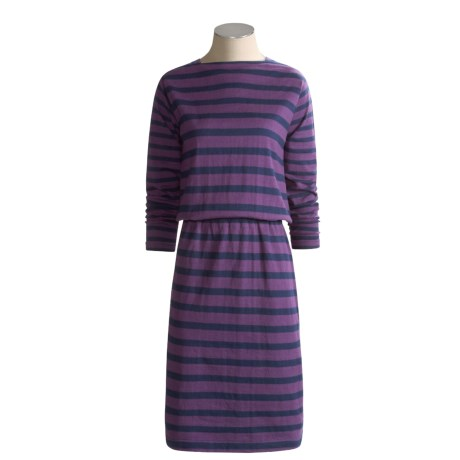 Shoulder Gusset Cotton Dress - Long Sleeve (For Women)