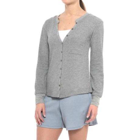 C&C California Waffle-Knit Lounge Shirt - Long Sleeve (For Women)
