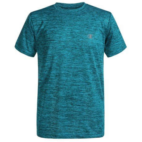 Champion Linear Heathered High-Performance T-Shirt - Short Sleeve (For Big Boys)