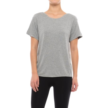 C & C California Solid Lounge Shirt - Built-In Bralette, Short Sleeve (For Women)