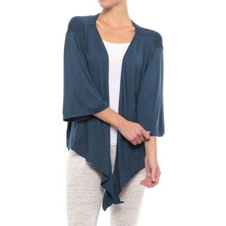 C&C California Lounge Wrap Shirt - Long Sleeve (For Women)