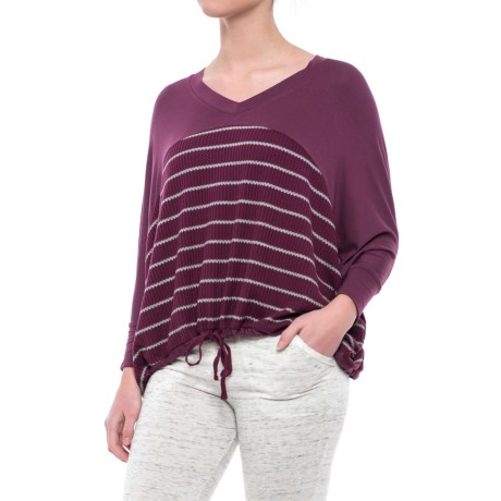 C & C California Tie-Front Slouch Shirt - V-Neck, Long Sleeve (For Women)