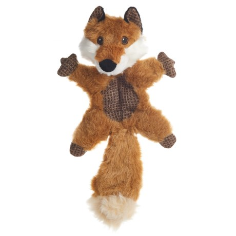Best Pet Woodland Critters Fox Mat Dog Toy - Squeaker