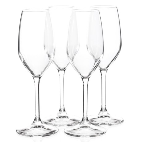 Bormioli Rocco Restaurant Champagne Flute Glasses - 7 fl.oz., Set of 4